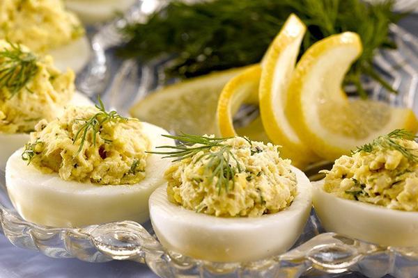 leftover-hard-boiled-egg-recipes-crab-deviled-eggs
