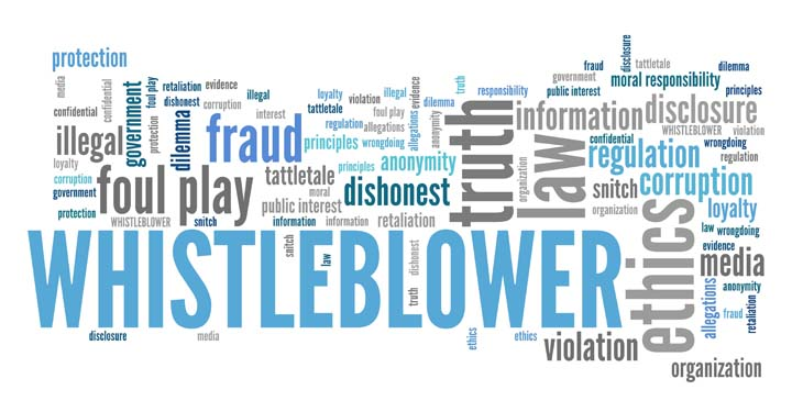 """Many words relating to """"whistleblower"""" in blue and grey"""