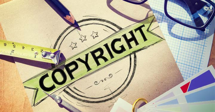 Drawing of Copyright Logo