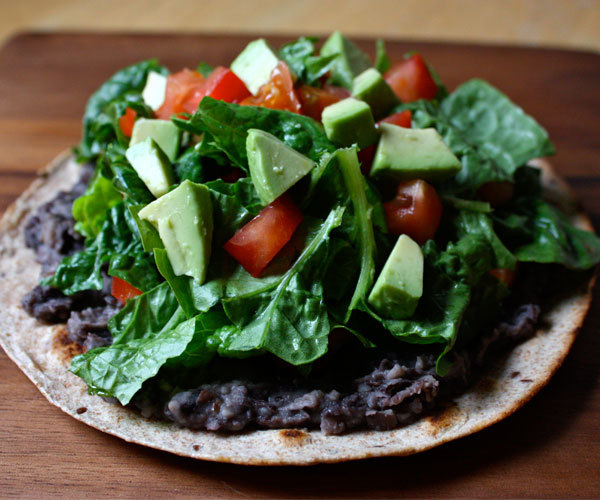 Black Bean Veggie Tostadas Recipe
