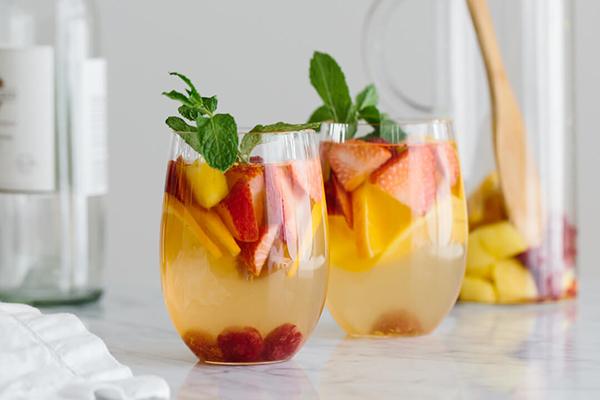 White Sangria with Mango and Berries Recipe