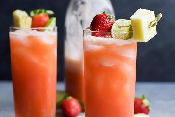 Pineapple Strawberry Agua Fresca Recipe