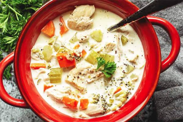 Intant Pot Creamy Chicken Soup Recipe