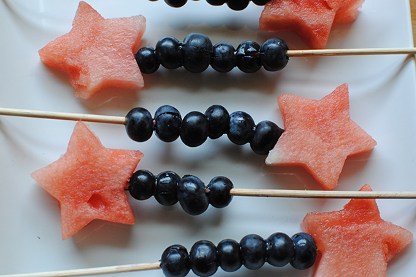 Watermelon and Blueberry Sparklers Recipe