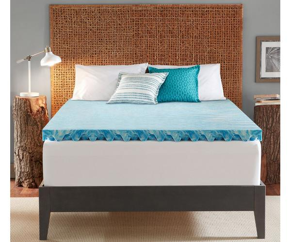 "Sleep's Cool Delux 3"" Gel Memory Foam Mattress Topper - snoring remedies snoring solutions sleep gifts best father's day gifts father's day gift ideas"