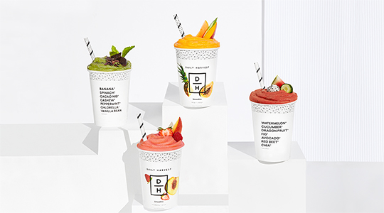 4 Daily Harvest smoothie boxes