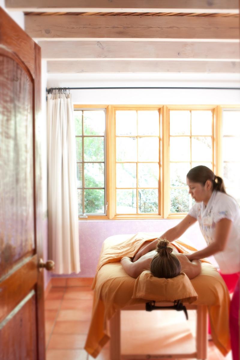 woman getting a massage at Rancho La Puerta Resort & Spa