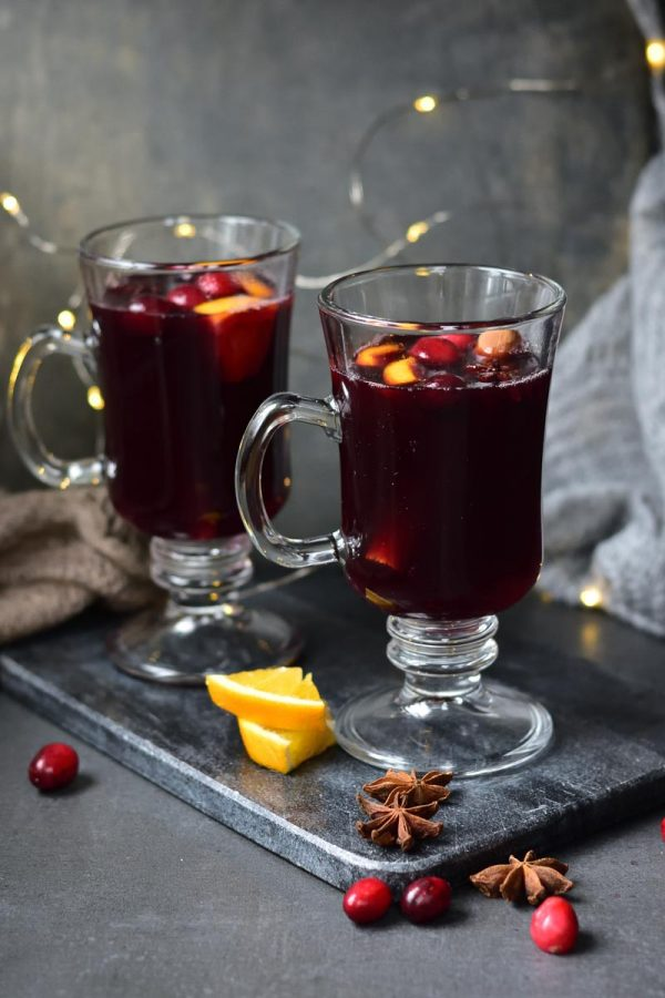 Cranberry Orange Mulled Wine fall cocktail