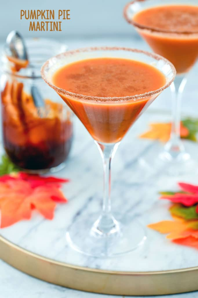 2 glasses of Pumpkin Pie Martini fall cocktail