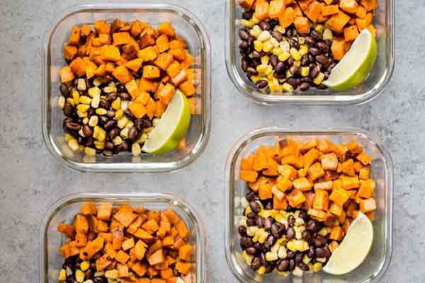 Southwest Sweet Potato Vegan Meal Prep Bowls