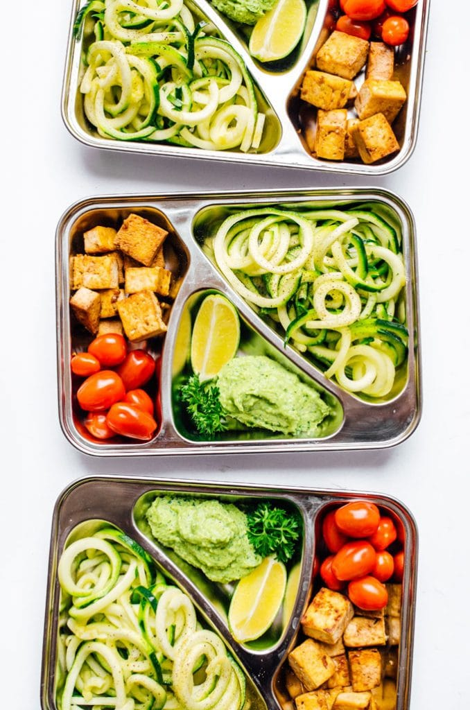 Zucchini Noodles Vegetarian Meal Prep