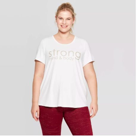 target fitness products - plus size graphic tee