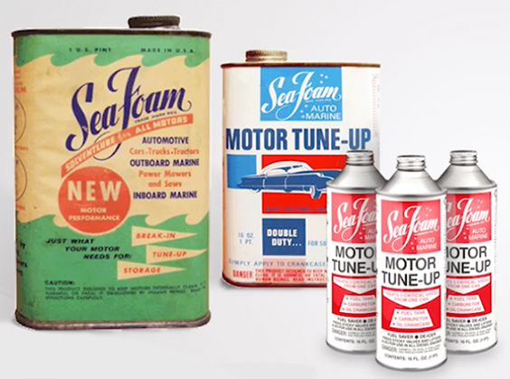 Old Sea Foam cans