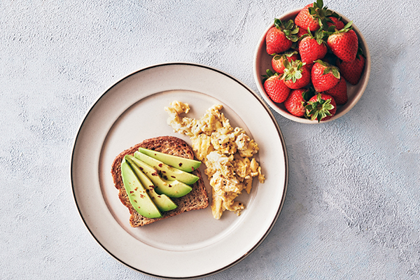 Scrambled Eggs and Avocado Toast