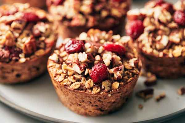 Cranberry Pecan Oatmeal Cups