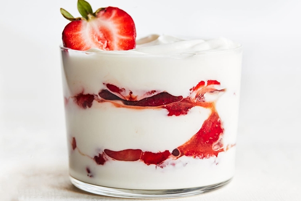 Strawberry Parfait with Balsamic Vinegar