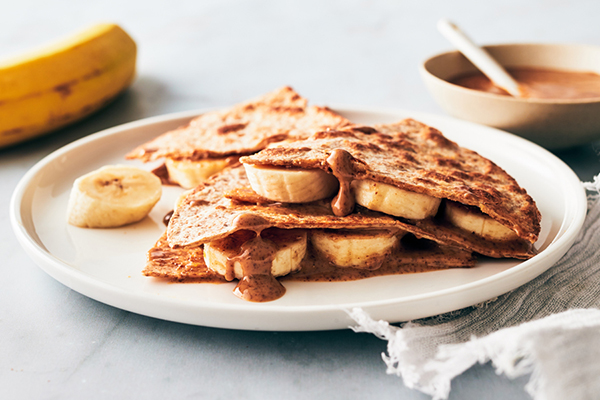 Banana and Almond Butter Quesadilla