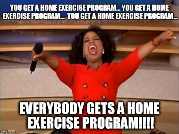 home exercise memes - oprah meme