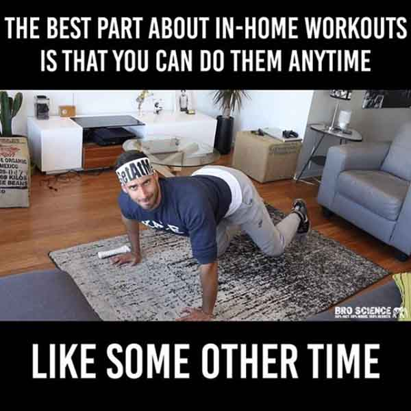 working-out-from-home - memes