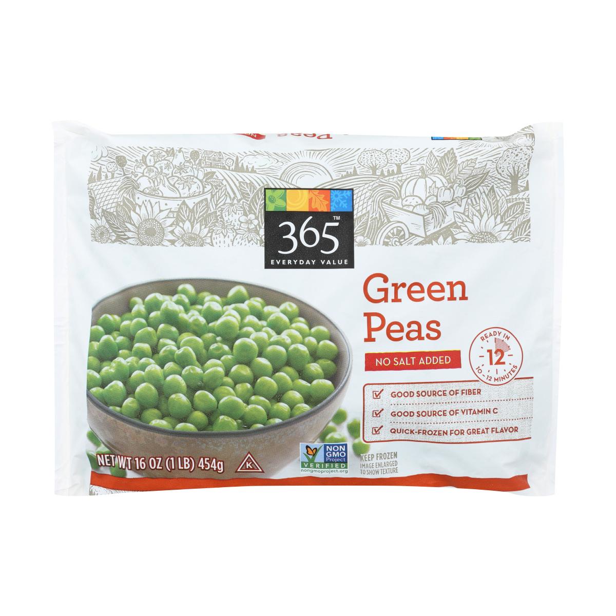 best frozen veggies - green peas