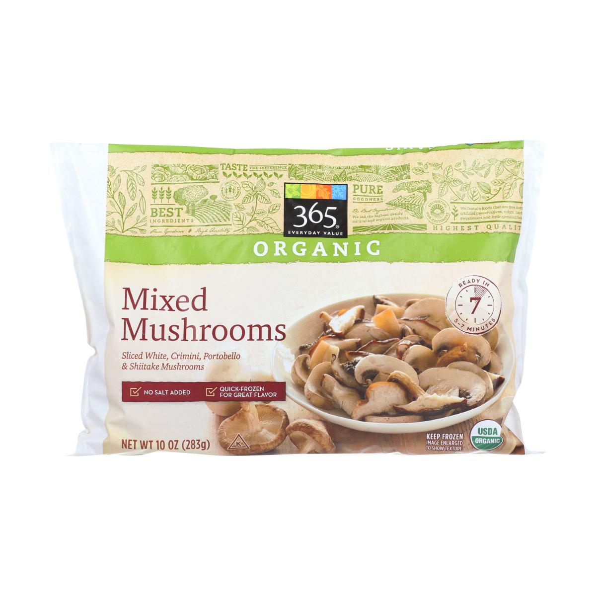 best frozen veggies - mushrooms