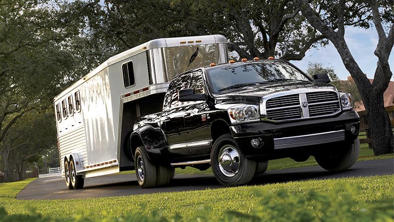 Dodge Ram towing a trailer