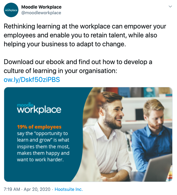 moodle workplace landing page