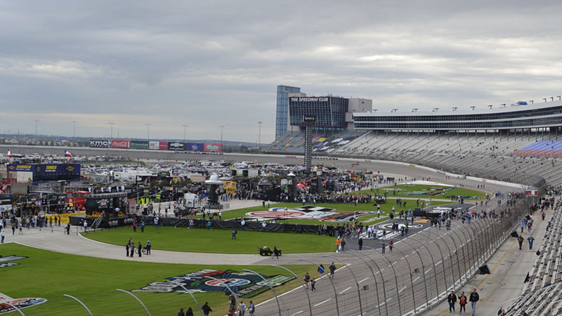 view of Texas Motor Speedway from the stands