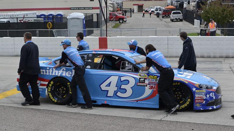a race team with a car