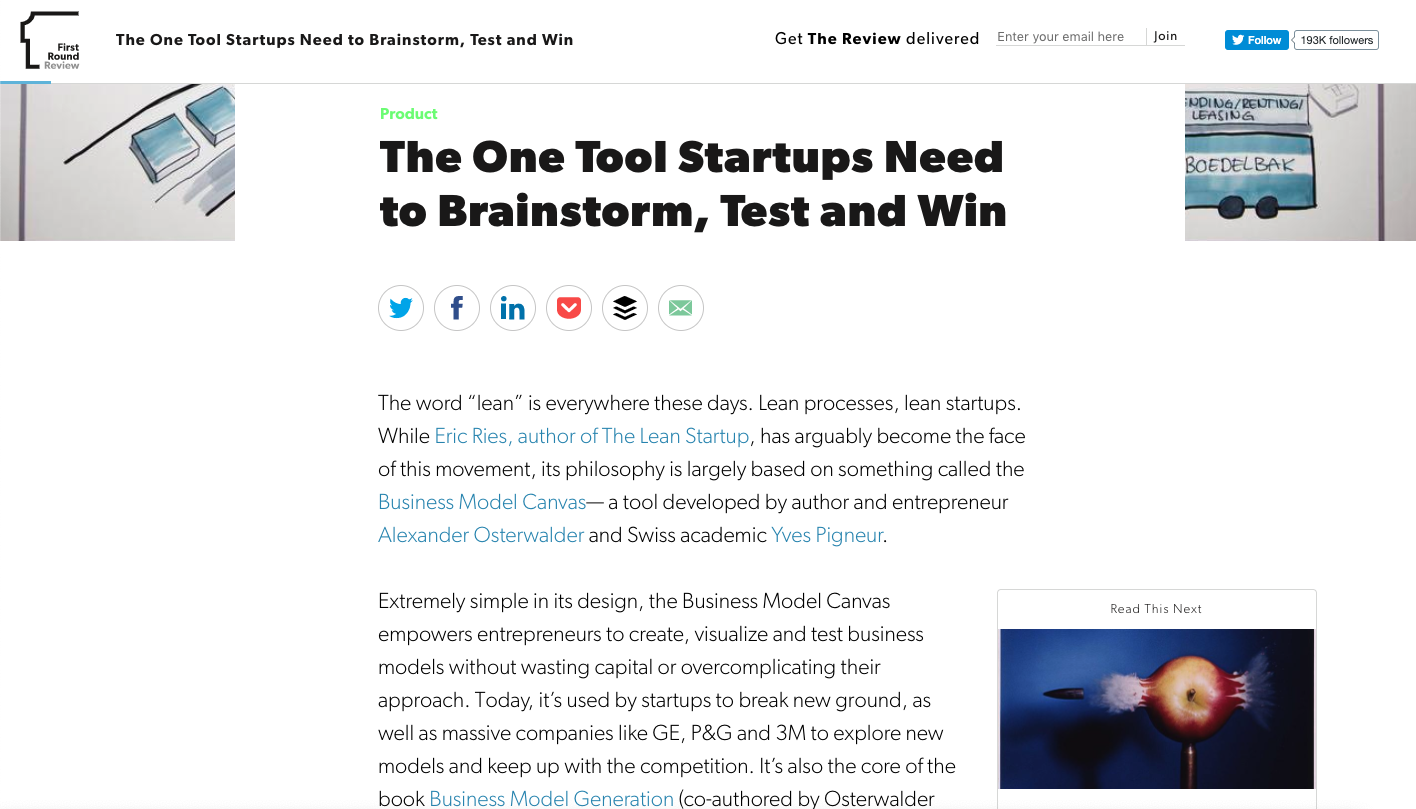 First Round Capital's blog example
