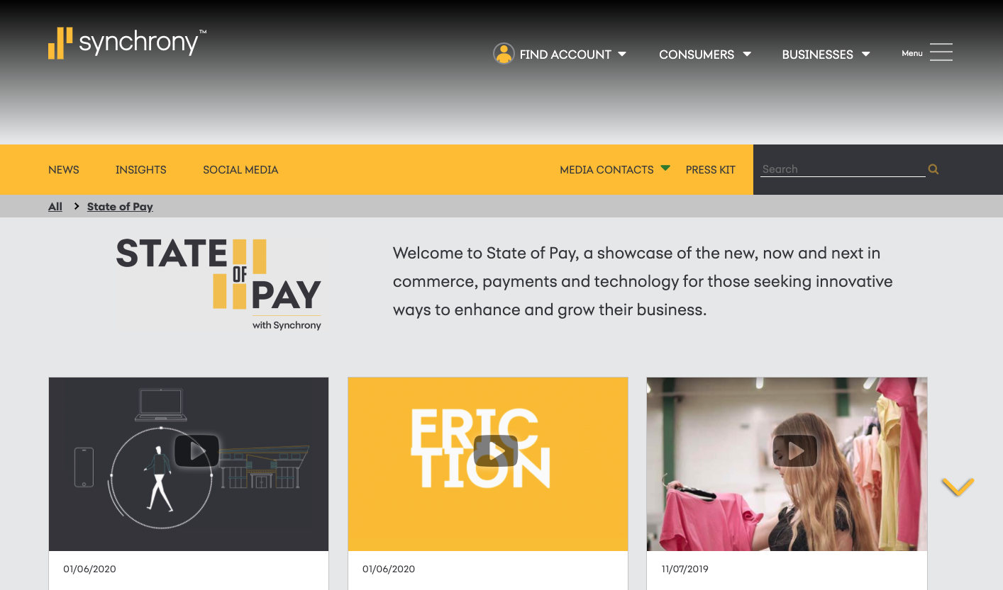 Synchrony wants to be positioned as an expert in payment innovation