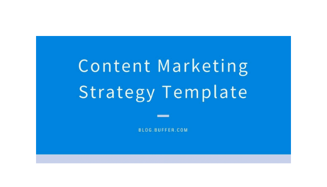 Buffer content marketing strategy template