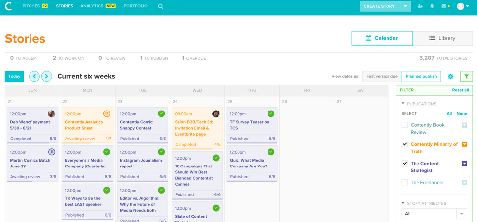 Contently schedule