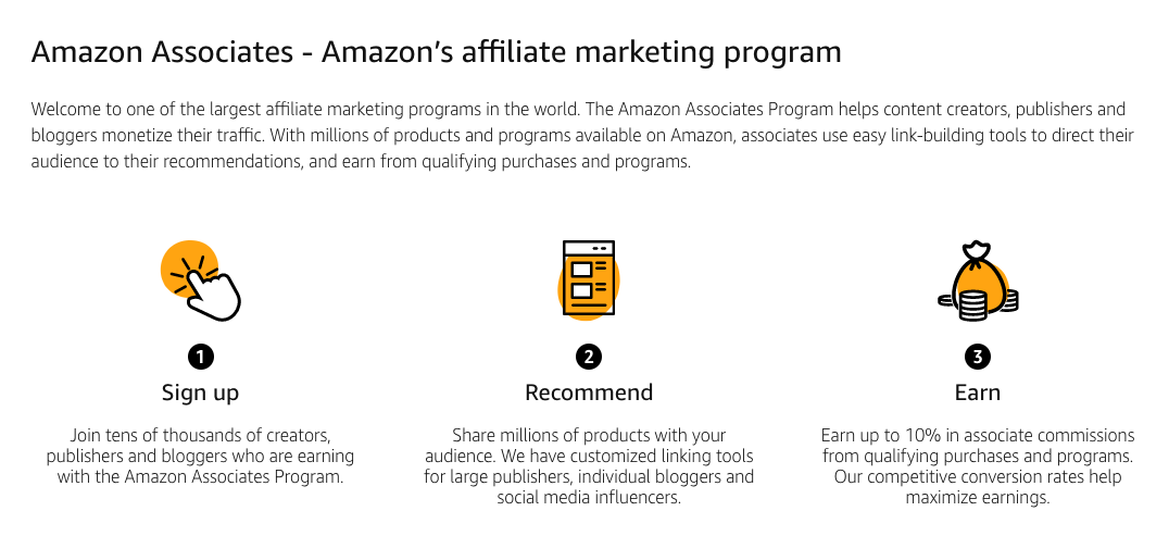 Amazon's affiliate offerings