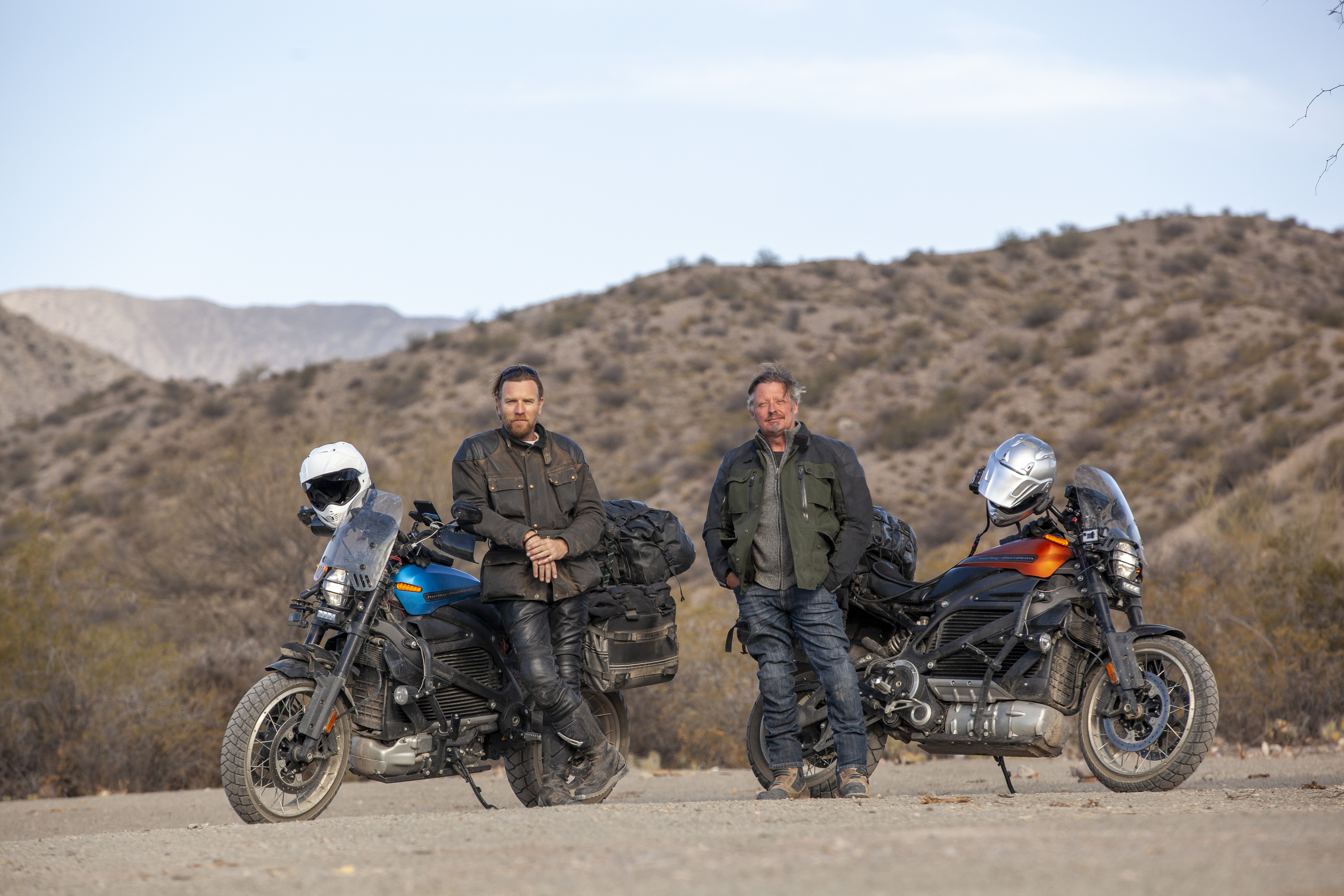 Ewan McGregor and Charley Boorman on electric motorcycle roadtrip