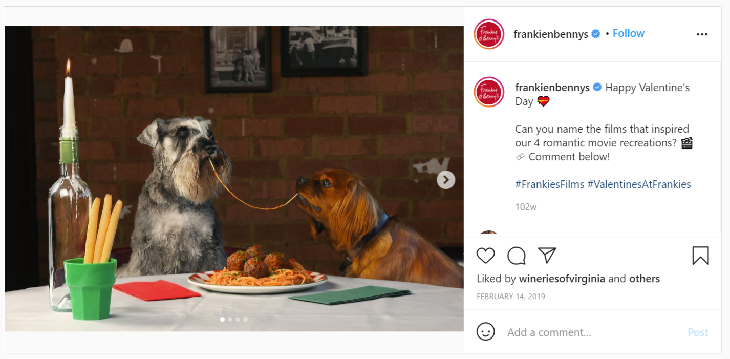 Frankie and Benny Valentine's Day campaign