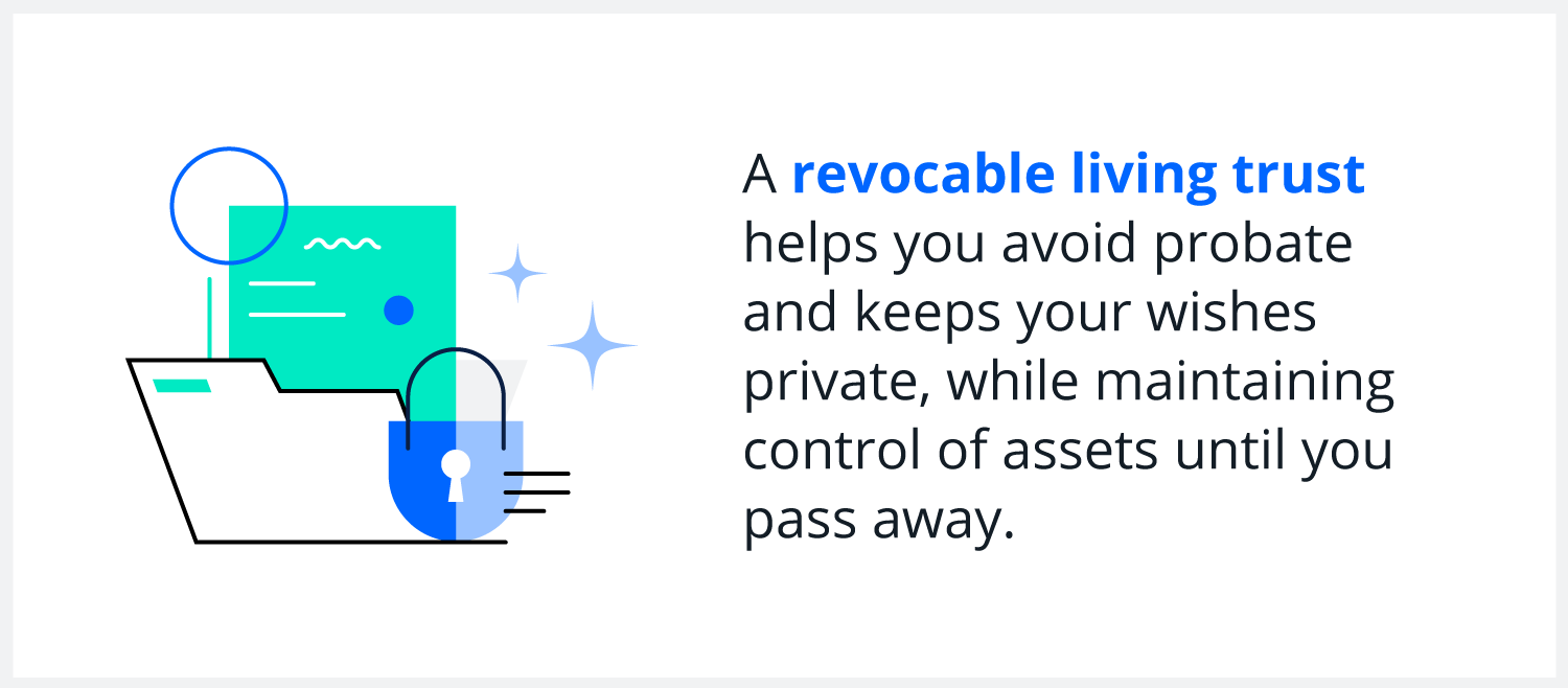 revocable living trust infographic