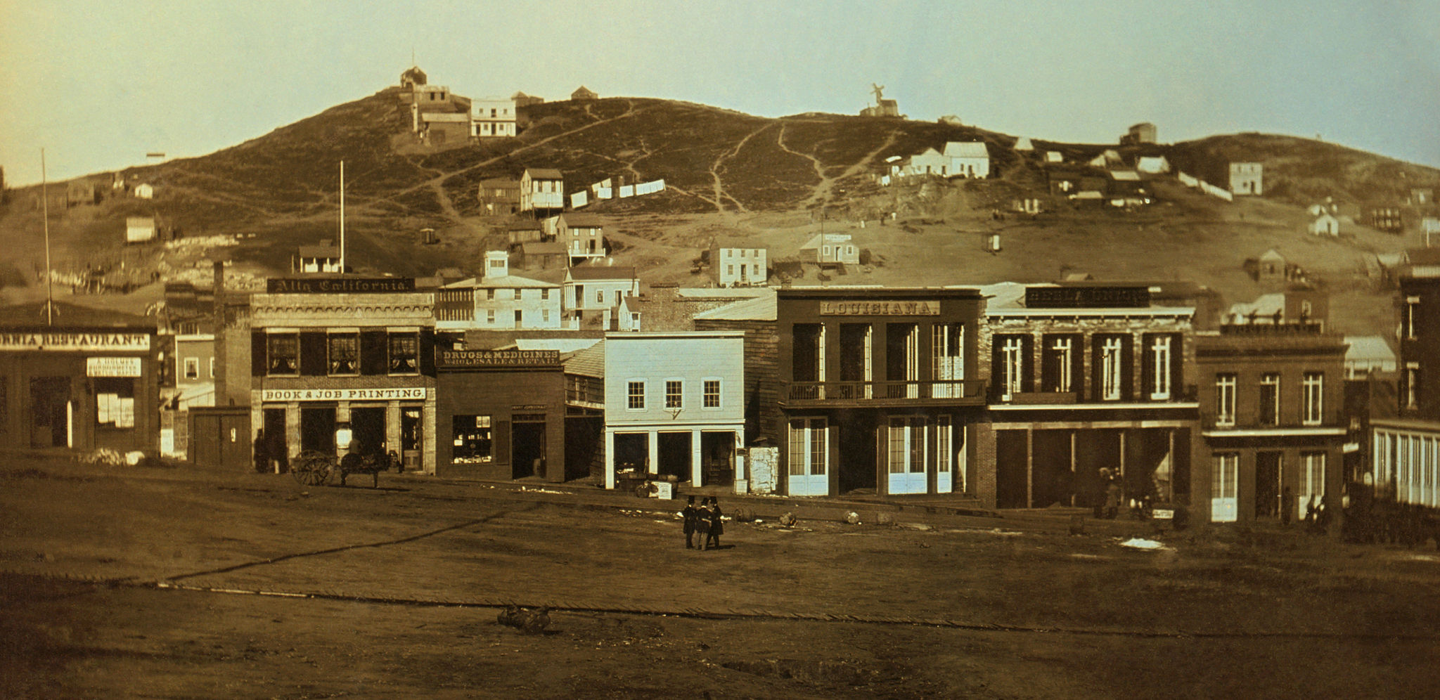 1851 photograph of sparsely built San Francisco.