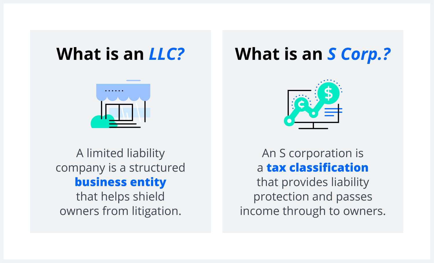 The difference between an LLC and S corporation