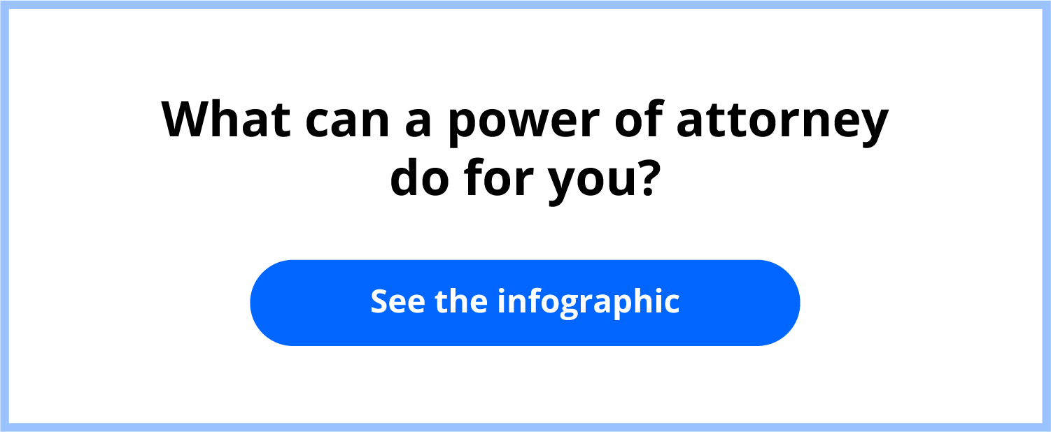 """Infographic answering, """"What is a power of attorney?"""""""