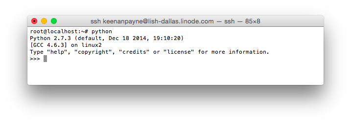 Python in Ubuntu