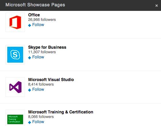 Microsoft LinkedIn marketing