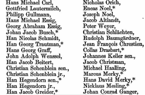 Few Boston Babies Were Given Middle Names In The 1730s But Settlers From Germany Had Other Ideas Immigration Records Same Period List Many