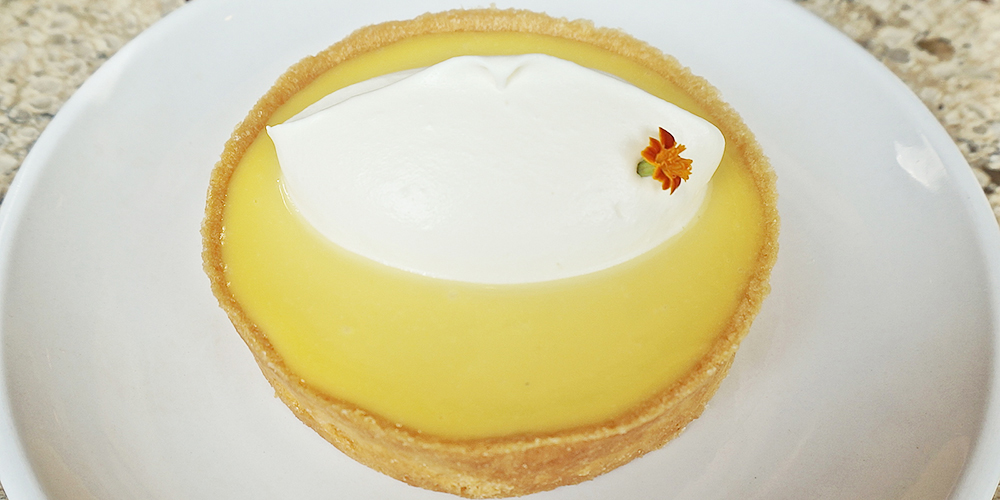 Dessert in Chicago: passion fruit tart.