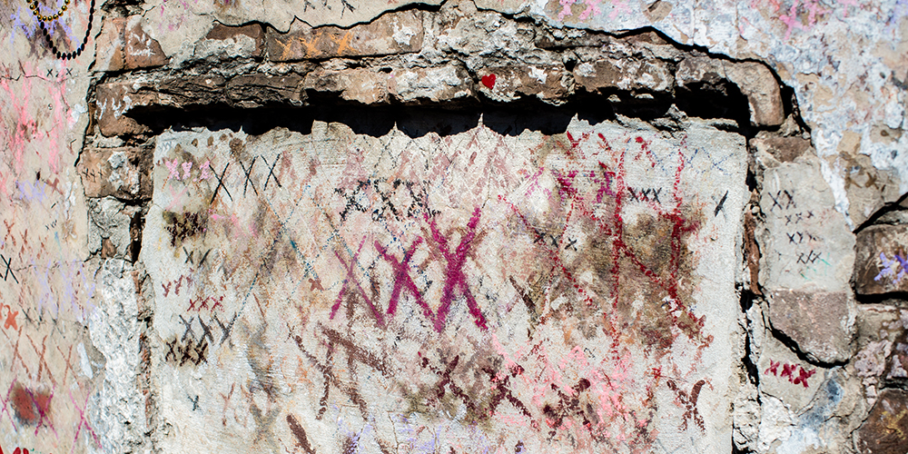 New Orleans voodoo: Marie Laveau tomb.