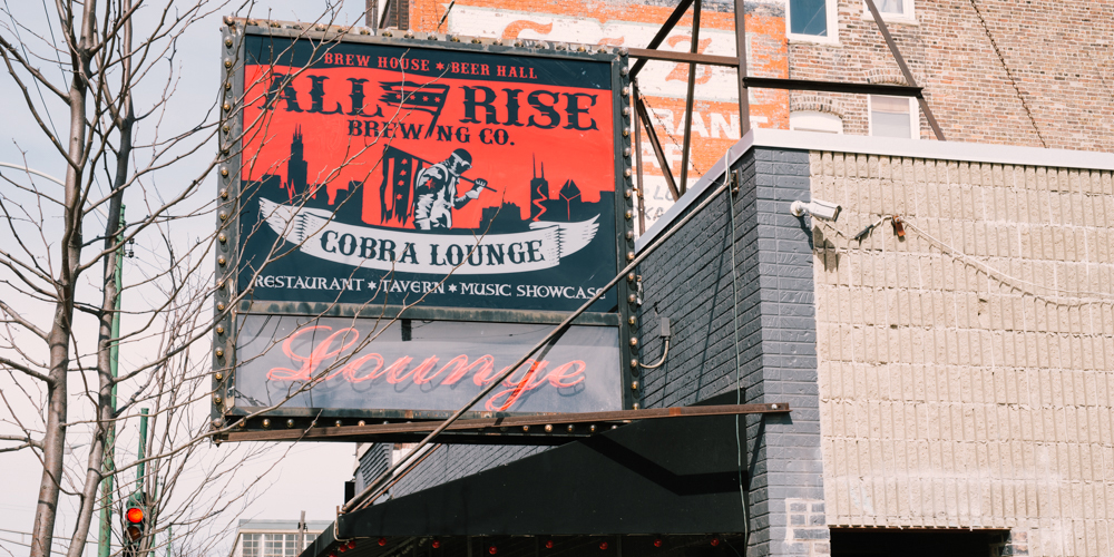Punk rock music at Cobra Lounge in Chicago.