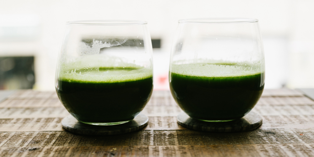 Murnane's Green Juice: spinach, kale, apple, cucumber, lime and cilantro. (Photo: Ten Photos)
