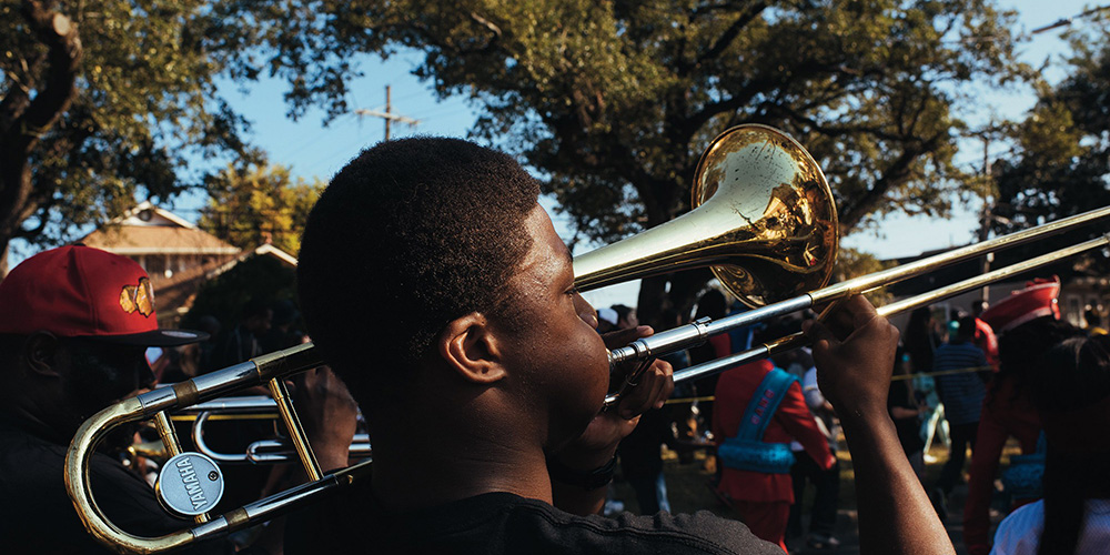 New Orleans brass band.