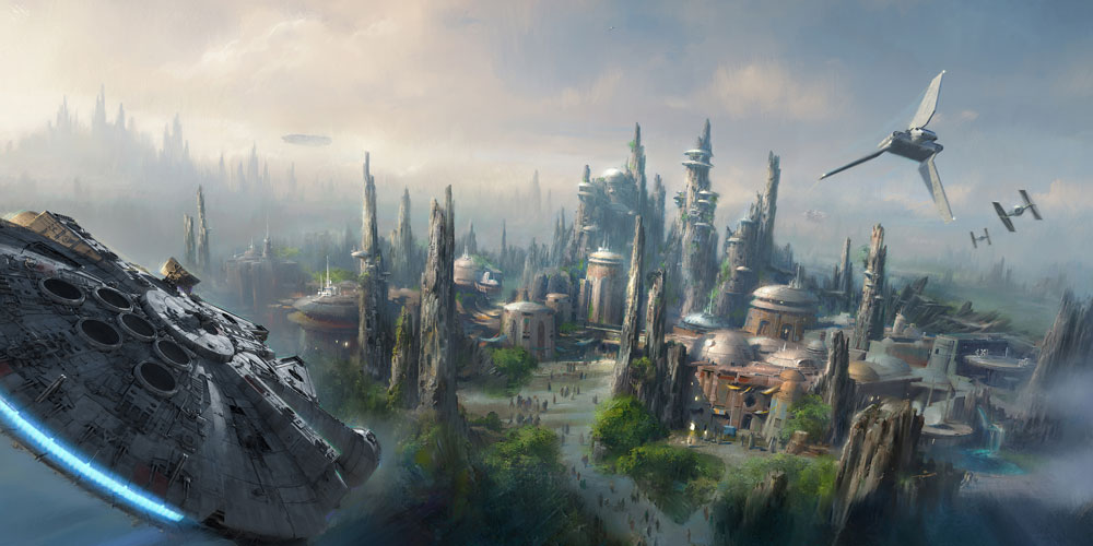 Millennial Falcon Star Wars Land