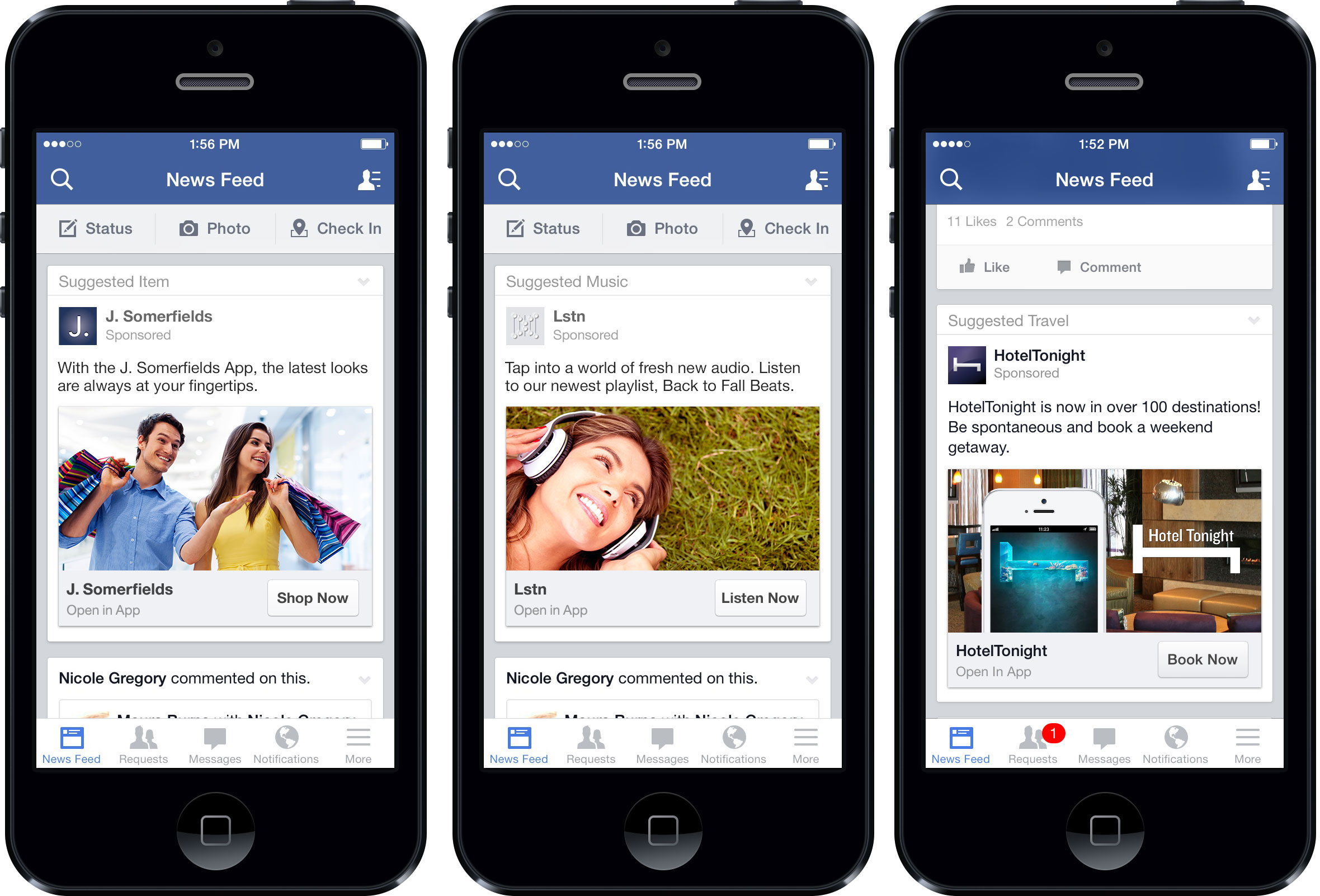 Facebook mobile UX